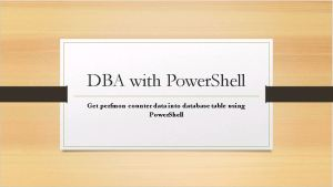 dba-with-powershell