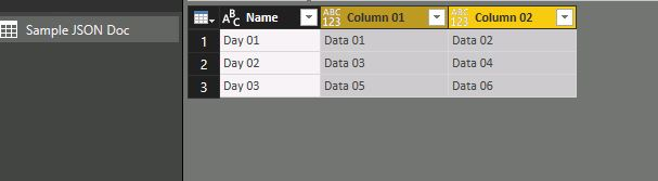 Power BI and JSON 09